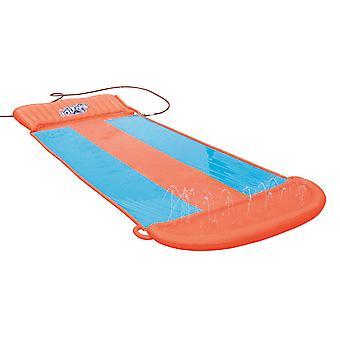 Mimigo Wasser Rutschen für Kinder, Regenbogen Rasen Wasser Rutschen Splash Play Center mit aufblasbaren Crash Pad und Splash Sprinkler Garten Garten Swimmin