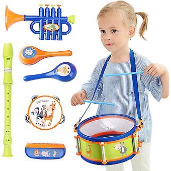 Instrument de musique pour enfants Set Drum Trumpet Harmonica Maraca Cadeau d'anniversaire
