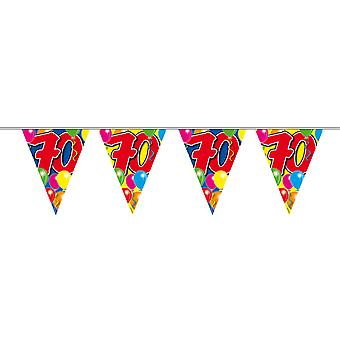 Pennant chain 10 m number 70 years birthday decoration party Garland