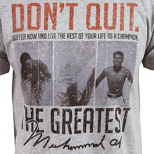 Muhammad Ali Mens Muhammad Ali n'arrête pas de T Shirt gris
