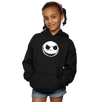 Disney Girls Nightmare Before Christmas Jack Skellington Face Hoodie