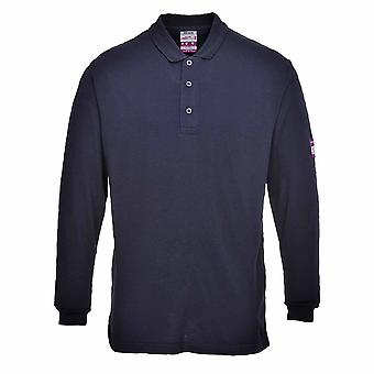 Portwest - Flame Resist Anti-Static Long Sleeve Polo Shirt