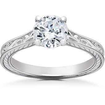 1 ct אקו מעבדה מבוגרים יהלום סוליטר טבעת אירוסין של סופיה 14 k