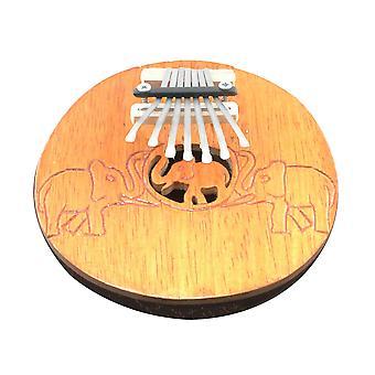Fortepian kciuk Karimba Mbira naturalne kokos z rzeźbione słonie