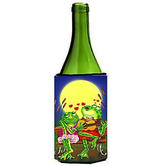 Frog Love Songs Wine Bottle beverage insulator Hugger