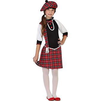 Faschingskostüme für Kinder Mädchen Scottish Kostüm für Mädchen