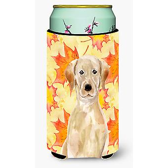 Yellow Labrador Fall Tall Boy Beverage Insulator Hugger