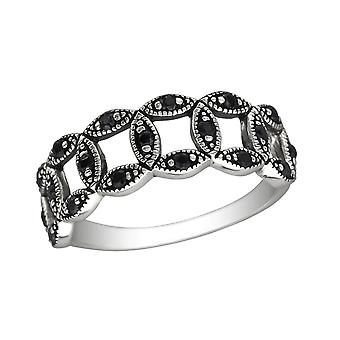 Circle - 925 Sterling Silver Cubic Zirconia Rings - W30141x