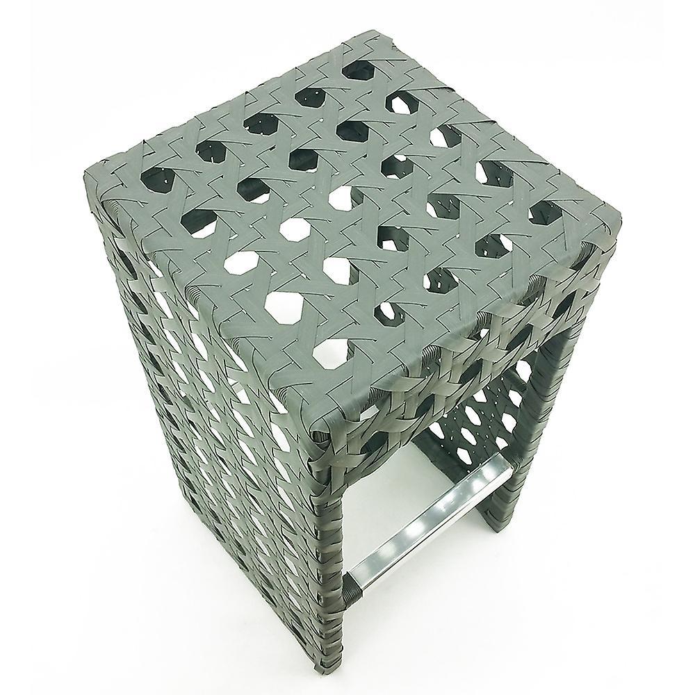 Avon tissé Wicker Chair/Bar extérieur tabouret - gris cendre