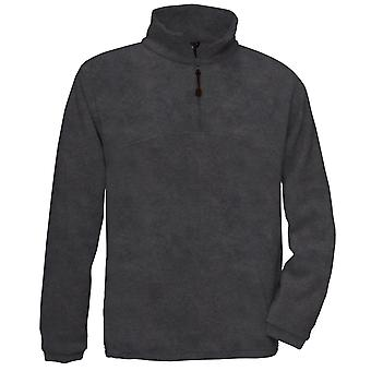 B&C Mens Highlander+ 1/4 Zip Fleece Top