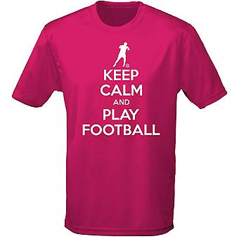Keep Calm And Play Football Kids Unisex T-Shirt 8 Colours (XS-XL) by swagwear