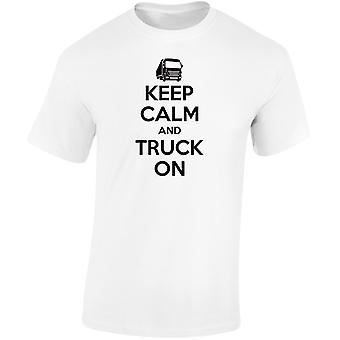 Keep Calm And Truck On Kids Unisex T-Shirt 8 Colours (XS-XL) by swagwear