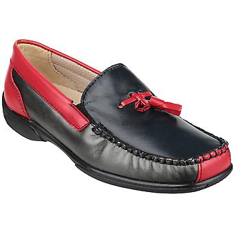 Cotswold Ladies Biddlestone Slip On Leather Moccasin Shoe