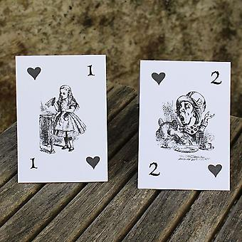 Alice in Wonderland Wedding Table Numbers White 1 - 15 Top Table Tent Fold