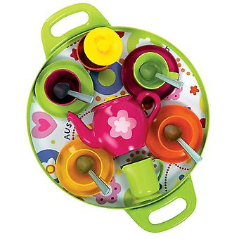 Gowi Jucării Pretend Play Afternoon Tea Tray (Roz) Roleplay Set Copii