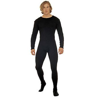 Mannen Bodysuit W/ärm svart