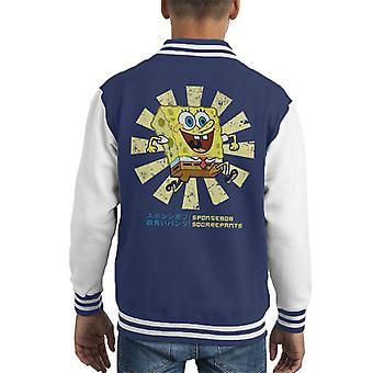 Varsity Jacket de SpongeBob SquarePants rétro japonais Kid