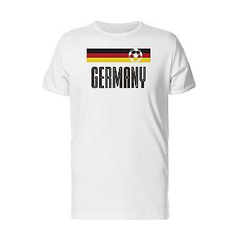Cool Germany Flag Soccer Men's Safety Orange T-shirt
