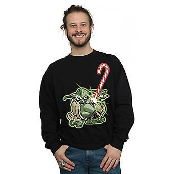 Stelle Wars Yoda Natale della canna di caramella felpa