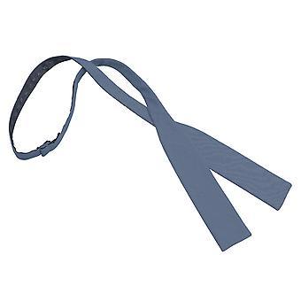 Navy Blue Chambray Baumwoll Batwing selbst Krawatte Bow Tie