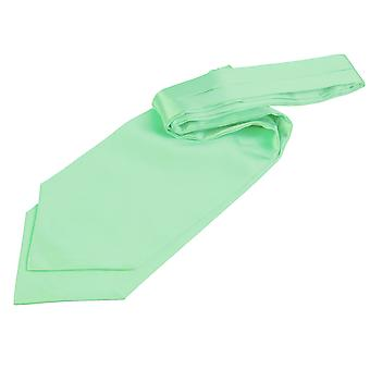 Mint grøn almindelig Satin Self-tie bryllup Cravat