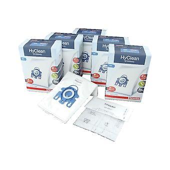 Miele Vacuum Cleaner GN HyClean 3D Efficiency Dust Bag & Filter Pack - Pack of 20 Bags