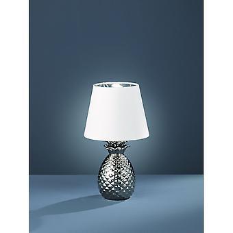 Trio Lighting Pineapple Modern Silver Ceramic Table Lamp