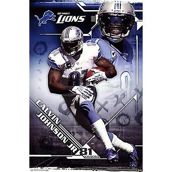 Detroit Lions - Calvin Johnson Jr 2013 Poster Print