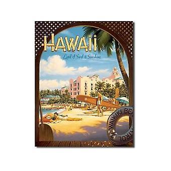 Hawaii Surf & Sunshine Metal Sign
