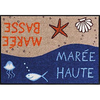 Salon lion paillasson Mareé 50 x 75 cm lavable saleté maritime mat