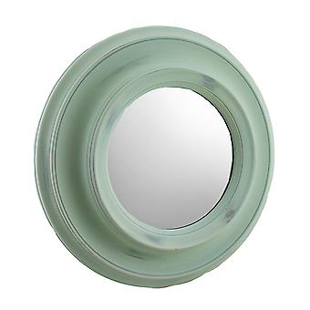 16 Inch Diameter Round Porthole Style Wall Mirror Slate Blue