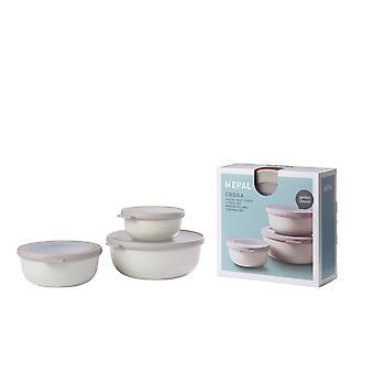 Rosti Mepal Cirqula Multi Bowl 3 Piece Set Small, Nordic White