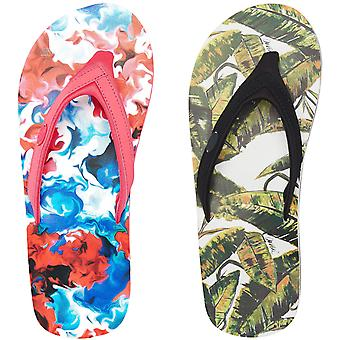 Animal Swish Swim AOP Womens Floral Beach Holiday Sandals Flip Flops