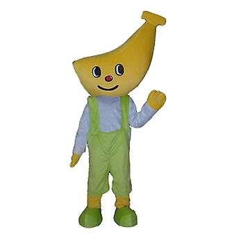 mascot SPOTSOUND boy, with a head in the shape of banana