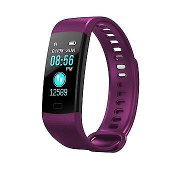 Y5 multifunctional activity bracelet with color screen-purple