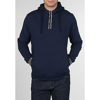 Merc PANCRAS, men's cotton tipped hoody with drawstrings and ribbed sleeves and hem