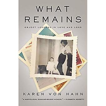 What Remains: Object Lessons in Love and Loss