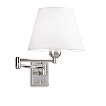 Dover Satin Nickel verstellbare Wandleuchte - Leds C4 170-NS