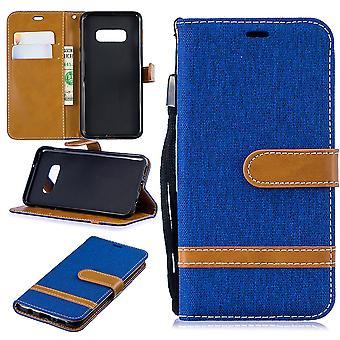 Samsung Galaxy S10e telefonveske beskyttende etui dekke kort tilfelle lommebok blå