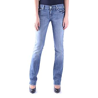 7 For All Mankind Ezbc110019 Dames's Blue Cotton Jeans