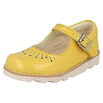Ragazze Clarks tagliato dettagliate scarpe corona salto