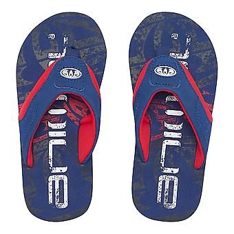 Animal Boys Jekyl Logo Flip Flops | Nautical Blue