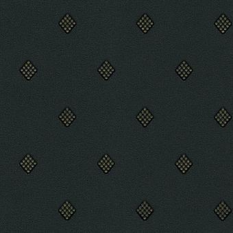Kristall-Diamant Kreis Muster Glitter Tapete Schwarz Gold Vinyl Designer Moda