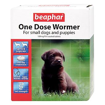 Beaphar Canac One Dose Small Dog & Puppy Wormer (6 Tablets)