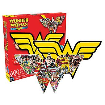 Wonder Woman logo og collage dobbeltsidet 600pc puslespil