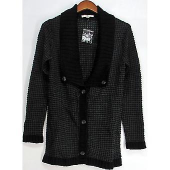 Liz Claiborne York Squared Shawl Collar Sweater Heather Gray A219250