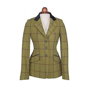 Shires Aubrion Saratoga Womens Riding Jacket - Navy/maroon Check