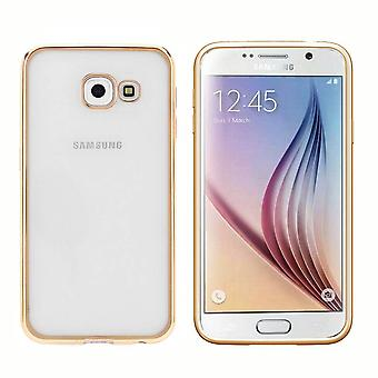 Samsung A3 2016  Hoesje Goud - Bumper Backcover Clear