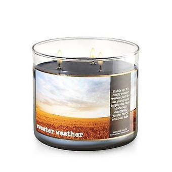 Bath & Body Works Sweater Weather Scented Candle 14.5 oz / 411 g
