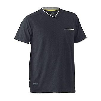 Bisley Flex & Move Cotton V-Neck T-Shirt